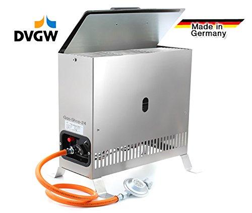 DVGW Gewächshausheizung aus Edelstahl mit Gasschlauch