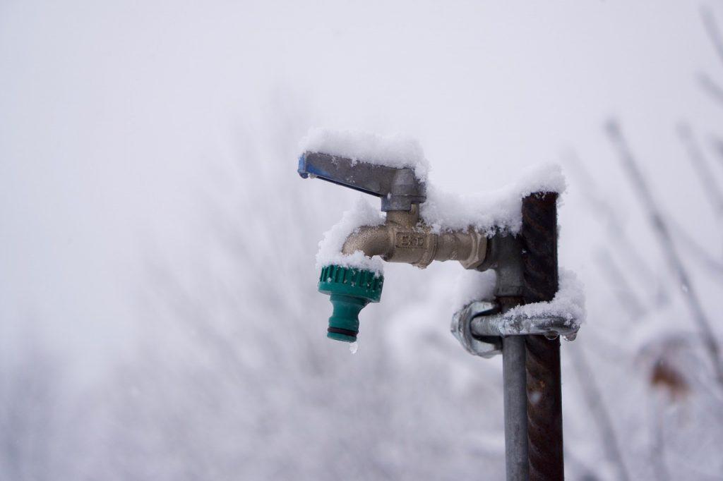 Winter Frost Garten Außenwasserhahn