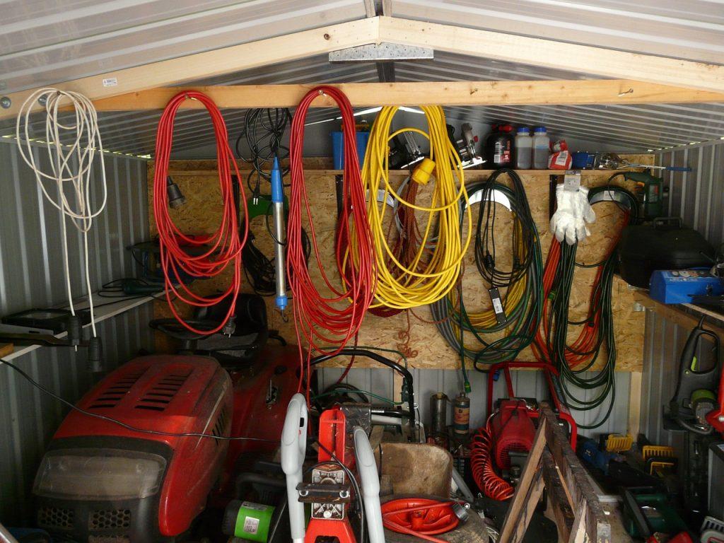 Garage Kabel Rasenmäher Werkzeug