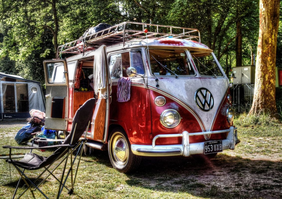 VW Bus Camper Bulli Campen Campingstühle Campingeinrichtung